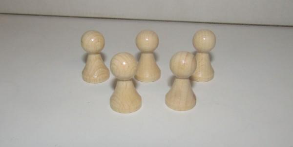 100 Stück Halmakegel aus Holz (27 mm), natur gebleicht und lackiert