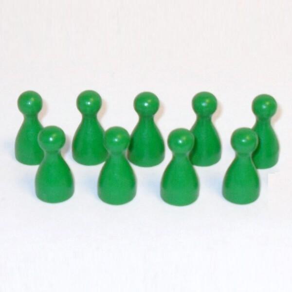 100 Stück Halmakegel aus Holz (25 mm), grün