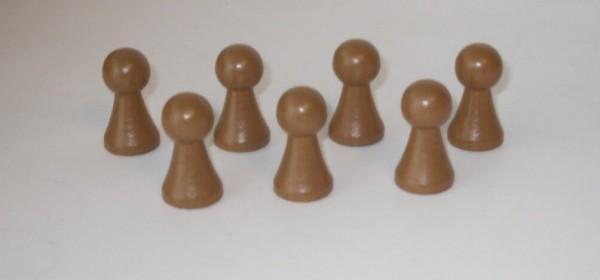 100 Stück Halmakegel aus Holz (27 mm), hellbraun