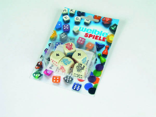Pokerwürfel aus Kunststoff